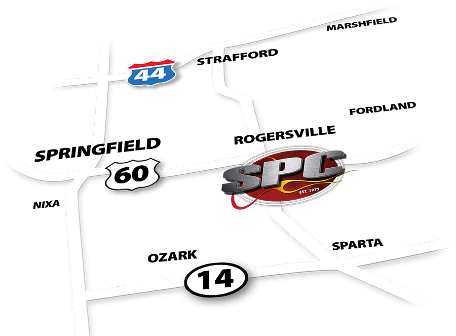 Graphical map to Sportsland in Rogersville, MO